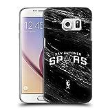 Head Case Designs Offizielle NBA S&W Marmor San Antonio Spurs Ruckseite Hülle für Samsung Galaxy S7