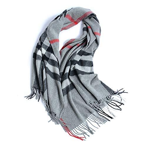 Junjiagao Plaid Scarf Schal Slim Wool Herbst und Winter Damen Warm and Soft Wild Lätzchen (Farbe : Gray Grid, Größe : Einheitsgröße) - Slim-schal