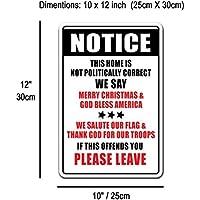bienternary Placa Decorativa de Aluminio con Texto en Inglés Noticias notically Correct WESAY Warning 8 x 12