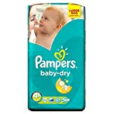 Pampers Baby Dry Taille Maxi 9-20kg Plus (56) - Paquet de 6