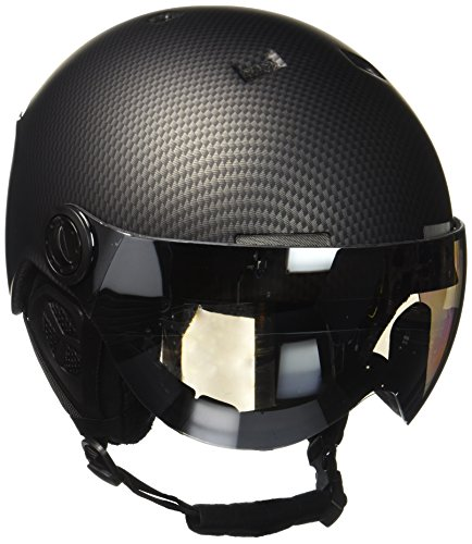 Black Crevice BCR140198-CW-1_Black Carbon/White_54-57 - Casco da sci, 54-57, colore: Black Carbon/White - Sci Caschi