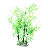 Kunststoff-Aquarium Landschaftsbau Bambuspflanze Dekor 11-Zoll-Grün