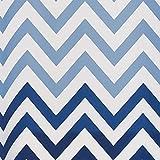 InterDesign 37380EU Ombre Chevron PVC-Freier Hochwertiger Peva-Duschvorhang aus Peva, blautöne, Vinyl, blau Multi, 183 x 0,254 x 183 cm Vergleich