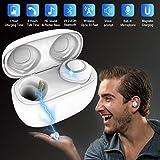 Bluetooth Kopfhörer in Ear mit Mikrofon,Wireless Kopfhörer,Drahtlose Kopfhörer Kabellos,Drahtlose Ohrhörer, Bluetooth Earbuds Wireless, Sport Ohrhörer für Ios iphone XS 8 7 Android Samsung s7 (TWS)