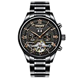 MagiDeal KINYUED Men Date Analog Mechanical Automatic Stainless Steel Watch With Box