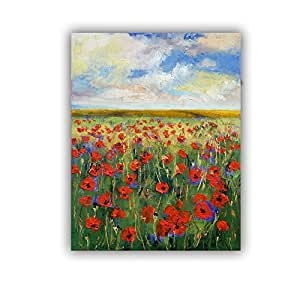 ArtWall Michael Creese's Poppies Art Appeelz Removable Wall Art Graphic, 18 by 24""