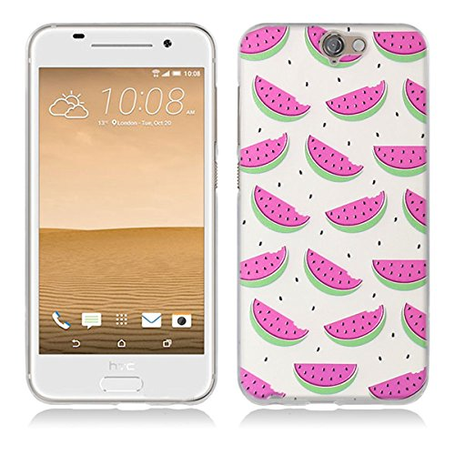 HTC One A9 Hülle, HTC A9 Hülle, Gift_Source [ Wassermelone ] Hülle Case Transparent Weiche Silikon Schutzhülle Handyhülle Schutzhülle Durchsichtig TPU Crystal Clear Case Backcover Bumper Case für HTC One A9 (Htc-source-fällen)