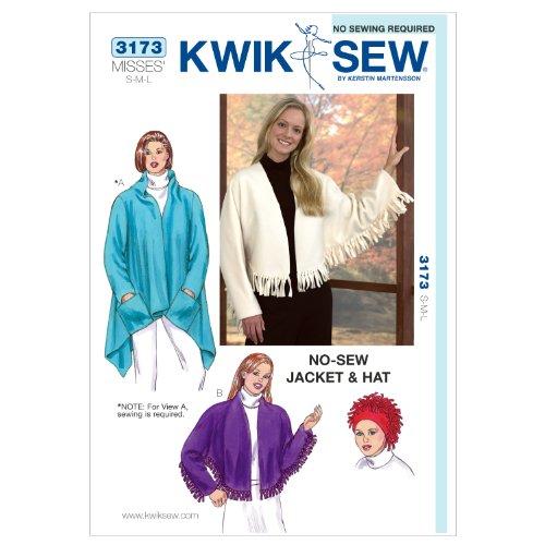 Kwik Sew Patterns K3173 - Cartamodello per giacca, scialle e cappello, colore: (Scialle Pattern Maglia)