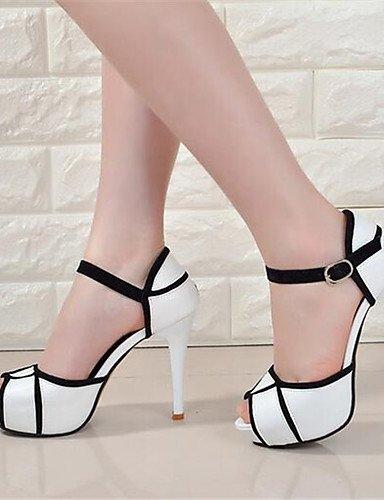 WSS 2016 Chaussures Femme-Soirée & Evénement-Blanc-Talon Aiguille-Talons-Talons-Polyester white-us7.5 / eu38 / uk5.5 / cn38