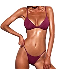 SHOBDW 2018 Mujeres Push-up Bra Bikini Playa Set Traje de baño e8ec846c513c
