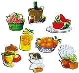 Kühlschrankmagnete Küche Magnete für Magnettafel Kinder stark 8er Set lustig mit Motiv Essen Mediterran