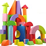 #10: HappyKids Baby Toys Building Blocks Eva Foam Non-Toxic Non-Recycled for Children Soft Color Bright Brinquedos Juguet 48 Pcs of 7cms etc
