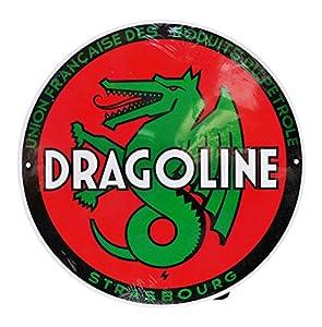 Dioramax-Placa Metal-dragoline-Rojo/Verde/Blanco-Escala-1/1