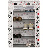 Kurtzy Shoe Rack Tower Cabinet Storage Organizer for Home and Office 5 Tiers(57X27X90cm, Mixed)