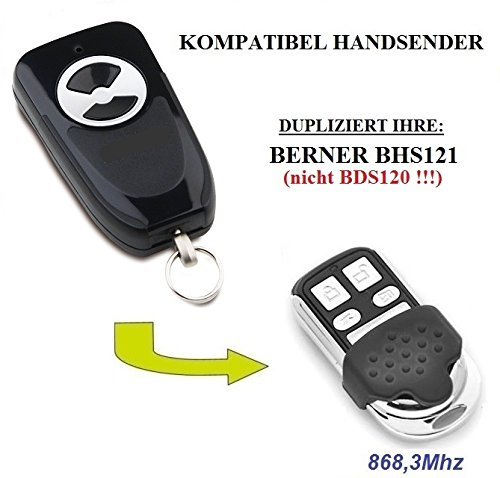 Berner BHS121 kompatibel handsender, klone fernbedienung, 4-kanal 868.3Mhz fixed code. Top Qualität Kopiergerät!!! - Control Torantriebe Board