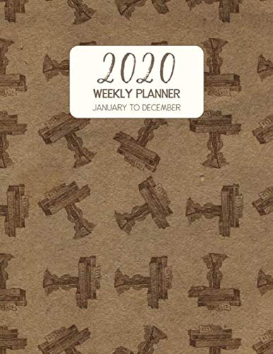 2020 Weekly Planner January to December: Dated Diary With To Do Notes & Inspirational Quotes - Zither Table (Vintage Music Calendar Planners, Band 54)