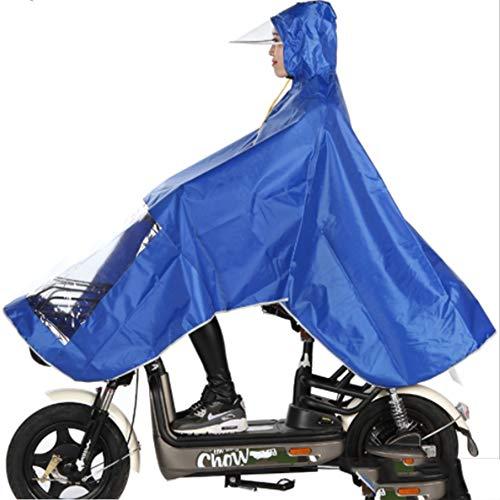 Doppel-körper (LIBWX Fahrrad Regenmantel -Wasserdicht Radfahren Regen Poncho Kein Spiegel Set Einzel Doppel Männer Und Frauen Körper wasserdichte Batterie Auto Poncho, Blau, Rosa,Blue)
