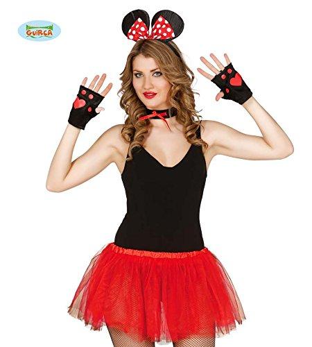 Fiestas Guirca GUI18587 - 4-teiliges Frauen-Set, (Kostüme Minnie Sexy Maus)