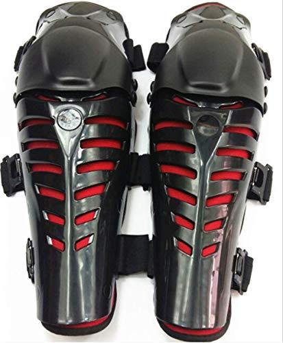 FAMLYJK Protège-Genoux De Moto Protector Moto Racing Motocross Mobile Articulation Anti-Chute Leggings Gardes Équipement De Protection,Redblack