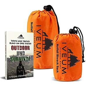 [2er Set] BIWAKSACK INKL. EBOOK – Notfall Schlafsack für Outdoor – ultraleichtes bivy Bag – Outdoor Equipment bivack…