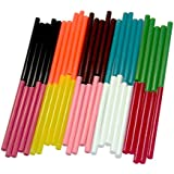 Glun 11MM Fluorescent Hot Melt Glue Sticks for Craft Work (Pack of 10)