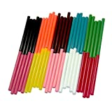 GLUN Super 11MM (Random) Colored Fluorescent HOT MELT Glue Sticks for Craft Work (10 Sticks)