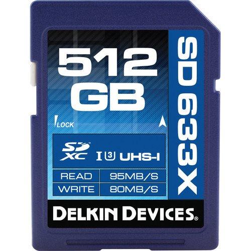 Delkin Devices 512GB Elite UHS-I SDXC-Speicherkarte (Klasse 10 / U3)