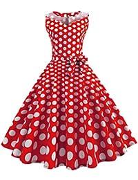 327d4c4ec2d06 OverDose-Femme Robe Patineuse Audrey Hetburn,OverDose Soirée Femme Robes  Rétro de Bal de