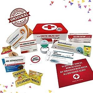 Geburtstagsgeschenk Aller Erste Hilfe Set Geschenk Box Witziger Sanikasten Das Original Scherzartikel Zum Geburtstag Deutsch