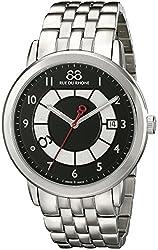 88 Rue du Rhone Mens 87WA140030 Double 8 Origin Analog Display Swiss Quartz Silver Watch