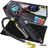 Medidor de inflador de neumáticos digital de trabajo pesado con preciso medidor de presión de neumáticos digital y mandril de aire recto.