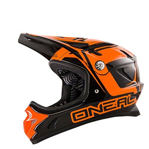 O'Neal Spark Fidlock DH Helm STEEL Schwarz Orange FR MTB Fullface, 0489F-70, Größe Medium (57 - 58 cm)