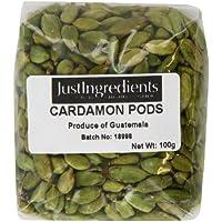 JustIngredients Essential Vainas de CardamomoVerde - 2 Paquetes de 100 gr - Total: 200 gr