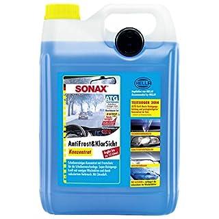 SONAX AntiFrost&KlarSicht Konzentrat (5 Liter) ergibt bis zu 15 Liter Winter-Scheibenwaschwasser, sofort mischbereit, schlierenfrei, Antikalk-Effekt | Art-Nr. 03325050