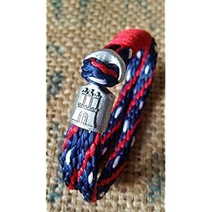 HAMBURGarmband geflochtenes Band (blau, rot, weiß)