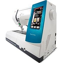 Alfa MC9900 Machine à Coudre et à Broder 200 Points 175 Dessins de Broderie é Cran Tactile Coloris Blanc et Bleu