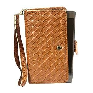 J Cover A9 L Elegant Series Leather Carry Case Cover Pouch Wallet Case For Zenfone 2 Laser ZE550KL Light Brown