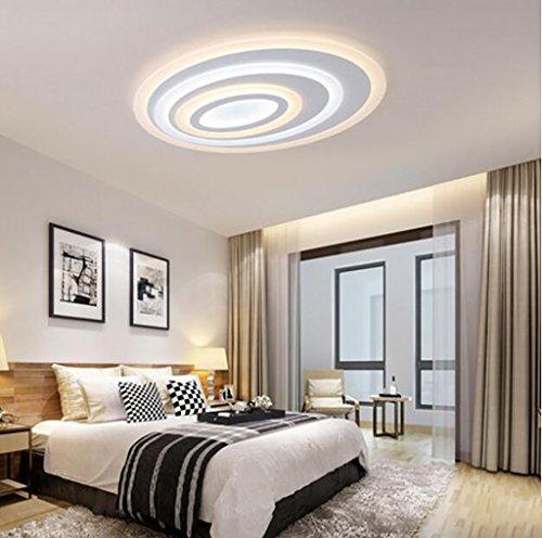 Cdbl -Lámpara de Techo Lámpara de salón led/lámpara de Dormitorio elíptica/lámpara de Restaurante Ultrafina lámparas de Techo de Dormitorio (Tamaño : 60CM*8CM-36w)