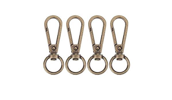 Broadroot Lot de 4 /étiquettes de bagage /à mousquetons vintage M/étal bronze