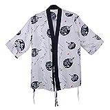 yunhigh Hombres Manga corta Chef uniforme chaquetas cocina restaurante sushi tienda camarero ropa de trabajo oleofóbico descontaminación large