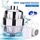 Filtro doccia, filtro acqua BASEIN 17 stadi Plastificante Soffione doccia Filtro acqua, inclusi 2 cartucce filtro intercambiabili, alloggiamento cromato, nastro in teflon e 6 anelli del disco