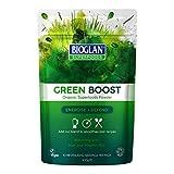 BIOGLAN Green Boost avec Orge+Agropyrum+Spiruline+Chlorella+Épinard et  Chou Kalé en Poudre Biologique  Aliments sans Gluten 100 g