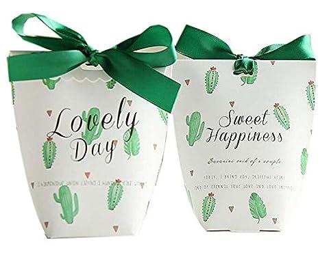 20pcs Party Wedding Candy Favor Box Box Birthday Box Décoration, Cactus