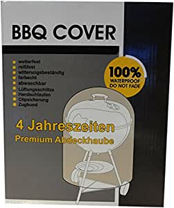 BBQ Grill Gasgrill Cover Premium Abdeckhaube Abdeckung Haube schweres Material Ø 67 x 91,5 cm L green A2