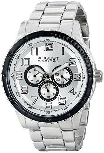 August Steiner AS8060SL - Reloj de cuarzo para hombres, color plata