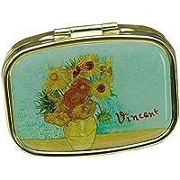 Fridolin 18242Van Gogh Sonnenblumenmotiv, Pillenbox, Metall, mehrfarbig, 5,1x 3,6x 1,8cm. preisvergleich bei billige-tabletten.eu