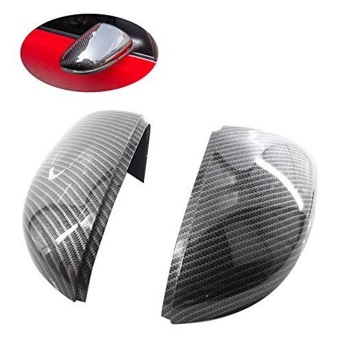 REFURBISHHOUSE Caches Rétroviseurs Latéraux (Aspect Carbone) Bouchons De Miroir en Carbone De Remplacement pour VW Golf 6 Jetta Mk6 GTI GTD R20 Rétroviseur Extérieur
