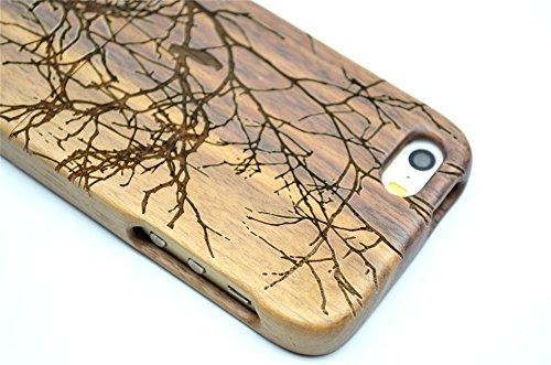 Holzsammlung® iPhone SE / iPhone 5S / iPhone 5 Holzhülle - Kirschholz - NatürlicheHandgemachteBambus / Holz Schutzhülle für Ihr Smartphone WalnutTree