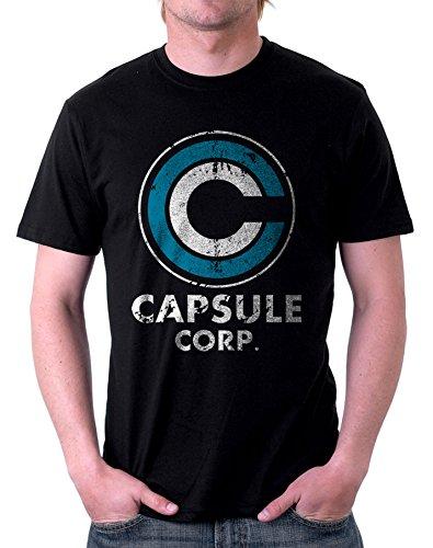 t-shirt NERA - Capsule Corp - S M L XL XXL maglietta by tshirteria