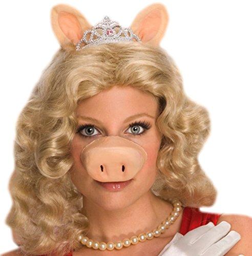Fancy Ole - Karneval Kostüm Accessoire Miss Piggy Schwein, (Miss Kostüm Nase Piggy)